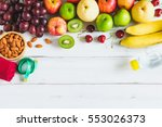 fresh fruit grape apple chinese ... | Shutterstock . vector #553026373
