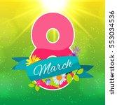 women's day greeting card 8...   Shutterstock .eps vector #553034536