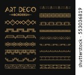 set of art deco patterns and... | Shutterstock .eps vector #553036819