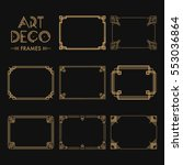 set of art deco borders and... | Shutterstock .eps vector #553036864