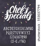 Chef's Specials. Chalkboard...