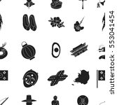 south korea pattern icons in...