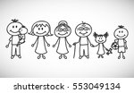 vector illustration of happy... | Shutterstock .eps vector #553049134