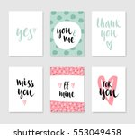 set of cute creative card with... | Shutterstock .eps vector #553049458