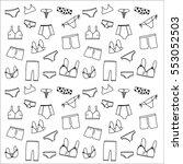 underwear lingerie doodle... | Shutterstock .eps vector #553052503