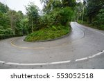 a hairpin bend on the road in... | Shutterstock . vector #553052518