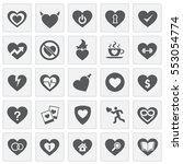 heart icons set simple squares | Shutterstock .eps vector #553054774
