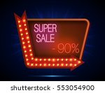 super sale signboard retro... | Shutterstock . vector #553054900