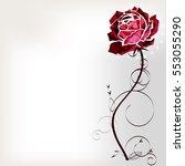 Stock vector flower rose 553055290