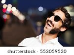 young cool man happiness... | Shutterstock . vector #553059520