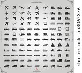 transportation icons vector | Shutterstock .eps vector #553062376