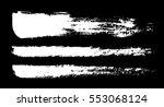 brush  chalk strokes. white ink ... | Shutterstock .eps vector #553068124
