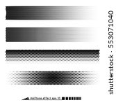 vector. halftone pattern effect.... | Shutterstock .eps vector #553071040
