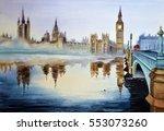 Watercolor Landscape Of...