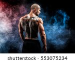 unrecognizable muscular man...   Shutterstock . vector #553075234