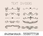 set of text dividers with...