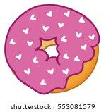heart donut | Shutterstock . vector #553081579