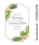 exotic tropical wedding... | Shutterstock .eps vector #553082398