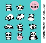 cute panda bear illustrations ... | Shutterstock .eps vector #553083850