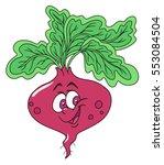 fresh beetroot cartoon | Shutterstock .eps vector #553084504