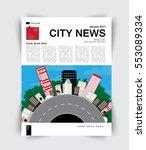 layout magazine  vector | Shutterstock .eps vector #553089334