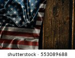 usa flag on a wood surface | Shutterstock . vector #553089688