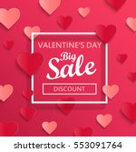 valentines day big sale... | Shutterstock .eps vector #553091764