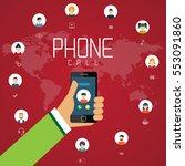 social network technology of... | Shutterstock .eps vector #553091860