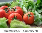 bright juicy tomatoes shot... | Shutterstock . vector #553092778