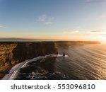 aerial ireland countryside... | Shutterstock . vector #553096810
