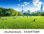 central park  new york  usa  ... | Shutterstock . vector #553097089