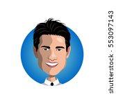 portrait of tom cruise icon | Shutterstock .eps vector #553097143