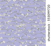 abstract sakura seamless... | Shutterstock .eps vector #553099720