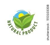 green leaves vector logo for... | Shutterstock .eps vector #553103308