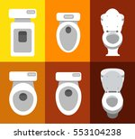 set of wc icons 2 | Shutterstock .eps vector #553104238