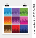 color fire flame icons | Shutterstock .eps vector #553104304
