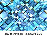 abstract fractal background 3d... | Shutterstock . vector #553105108