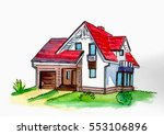 this si building of house. it... | Shutterstock . vector #553106896