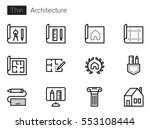 Architecture Line Vector Icons...