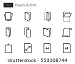paper and print line vector... | Shutterstock .eps vector #553108744