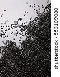 pellets of polyethylene  hdpe ... | Shutterstock . vector #553109080