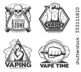 monochrome smoke labels with... | Shutterstock .eps vector #553111810