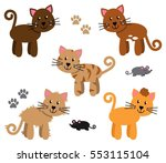 vector collection of cute and... | Shutterstock .eps vector #553115104
