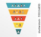 funnel infographics template... | Shutterstock .eps vector #553116850