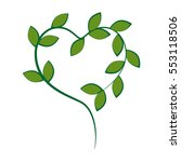 leafs plant ecology icon | Shutterstock .eps vector #553118506