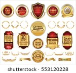 luxury retro badge and labels... | Shutterstock .eps vector #553120228
