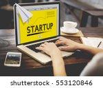 paper rocket startup business... | Shutterstock . vector #553120846
