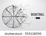 silhouette of a basketball ball.... | Shutterstock .eps vector #553128550
