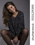 portrait of beautiful happy...   Shutterstock . vector #553129390