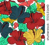 seamless pattern. aloha hawaii  ... | Shutterstock . vector #553131640